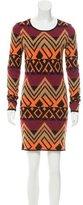 Torn By Ronny Kobo Patterned Wool Dress