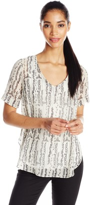 Only Hearts Women's Geraldine Shirttail Tee Print Lined