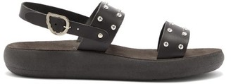 Ancient Greek Sandals Dinami Comfort Leather Slingback Sandals - Black