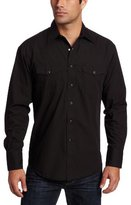Wrangler Men's Big & Tall Sport Western Snap Long Sleeve Shirt