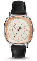 Fossil Idealist Black Leather Watch