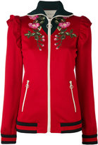 Gucci Technical embroidered jersey jacket - women - Cotton/Polyester - XS