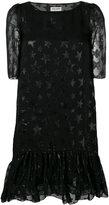 Saint Laurent star pattern midi dress - women - Silk/Polyamide - 38