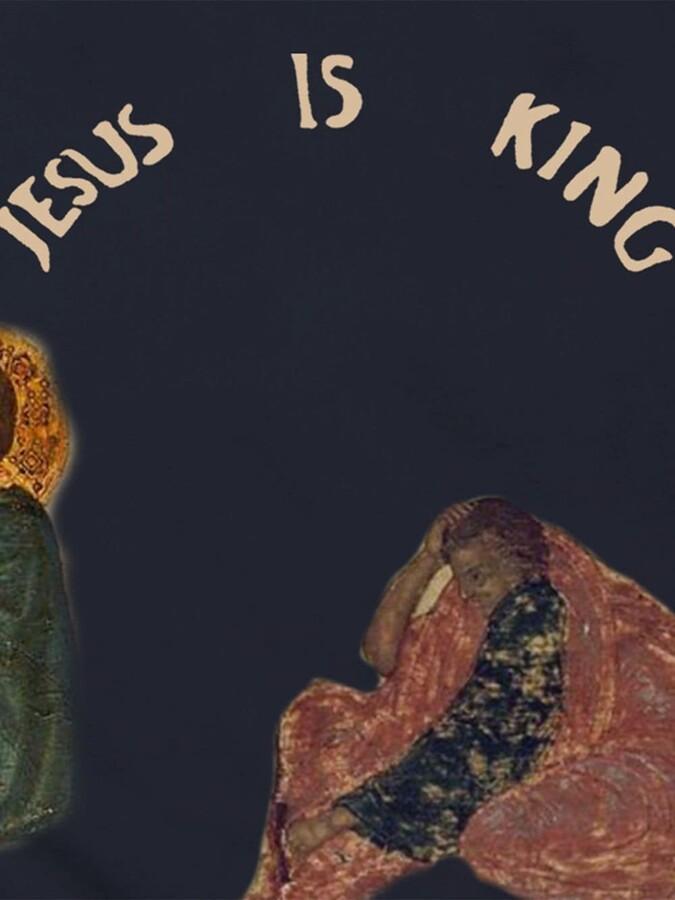 Thumbnail for your product : Yeezy 'Jesus is king' Cross crew-neck sweatshirt