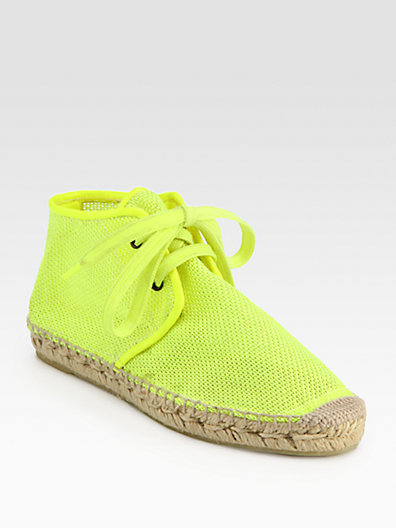 Stella McCartney Mesh Lace-Up Espadrilles