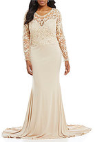 Terani Couture Plus Embroidered Beaded Gown
