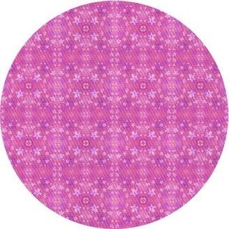 East Urban Home Capuano Floral Wool Pink Area Rug Rug Size: Runner 2' x 5'