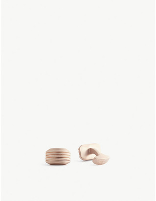 Tateossian Stripe rose gold-plated metal cufflinks