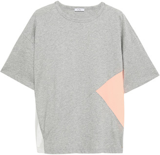 Clu Color-block Cotton-jersey And Woven T-shirt