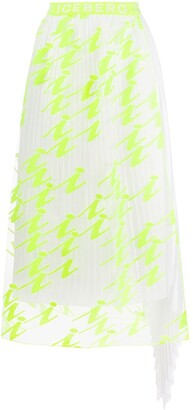 Iceberg Neon Layered Skirt
