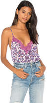 Free People Printed Pretty Thing Cami in Purple