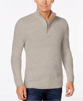 Tasso Elba Men's Quarter Zip Cotton Sweater, Only at Macy's