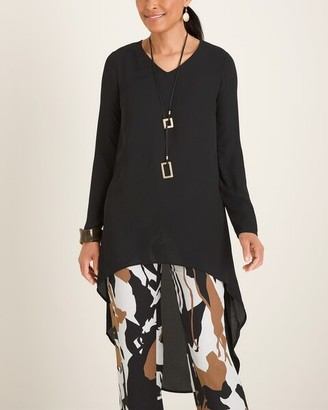 Chico's Chicos High-Low Drama Tunic Blouse