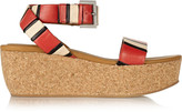 See by Chloe Patti striped leather wedge sandals