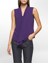 Calvin Klein Tie-Neck Sleeveless Top