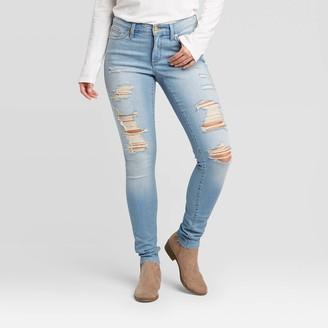 Universal Thread Women's Mid-Rise Distressed Skinny Jeans - Universal ThreadTM