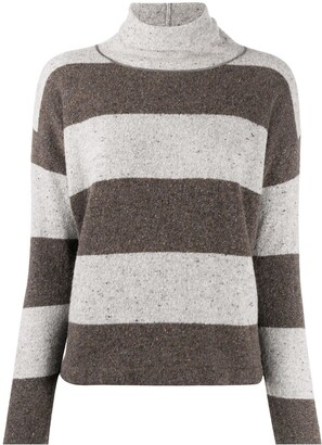 Fabiana Filippi Striped Turtle Neck Knitted Top