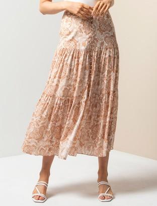 Forever New Lilliana Tiered Maxi Skirt - Valencia Paisley - 16