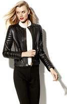 Vince Camuto Leather Moto Jacket