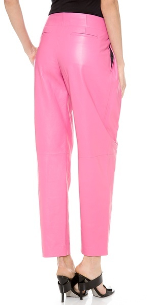 Alexander Wang Leather Wide Cut Trousers
