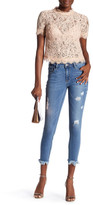 Just USA Uneven Frayed Skinny Jean