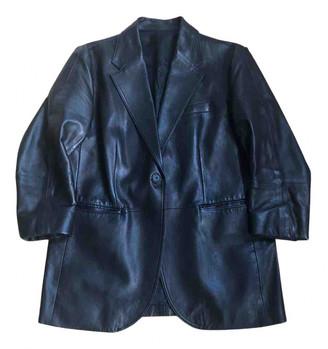 Arket Black Leather Jackets