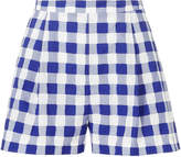 Mds Stripes Pleated Check Shorts