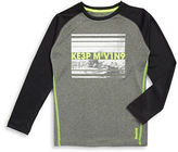 Reebok Boys 8-20 Colorblocked Text Graphic Top