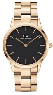 Daniel Wellington Rose Gold-Tone Link Bracelet Watch, 36mm