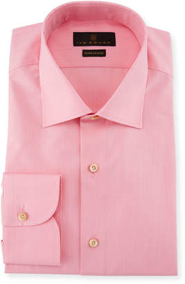 Ike Behar Solid Cotton Barrel-Cuff Dress Shirt
