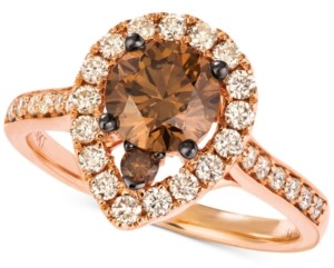 LeVian Le Vian Diamond Halo Ring (1-5/8 ct. t.w.) in 14k Rose and White Gold
