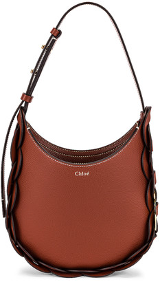 Chloé Small Darryl Hobo Shoulder Bag in Sepia Brown | FWRD