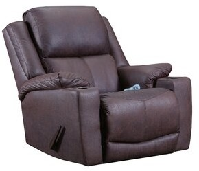 Darby Home Co Claytor Manual Rocker Recliner Upholstery Color: Coffee, Motion Type: Rocker Recliner with Heat and Massage