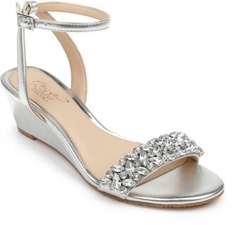 Badgley Mischka Bellevue Ankle Strap Wedge Sandal