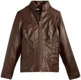 Jessica Simpson Faux-Leather Moto Jacket, Big Girls (7-16)
