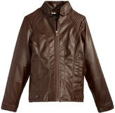 Jessica Simpson Faux-Leather Moto Jacket, Big Girls