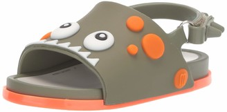 Mini Melissa Girls' Mini Beach Slide Dino Slipper