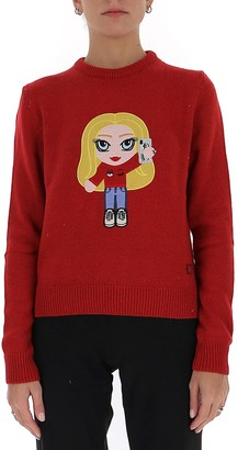 Chiara Ferragni Embroidered Knit Pullover