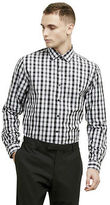 Kenneth Cole Slim-Fit Black And White Check Shirt