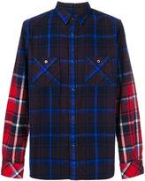 Sacai plaid contrast sleeve shirt