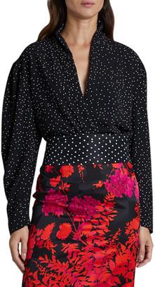 Dries Van Noten Coti Long-Sleeve Polka-Dot Shirt