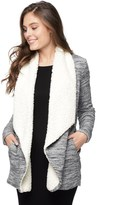 Splendid Brushed Triblend Faux Sherpa Jacket