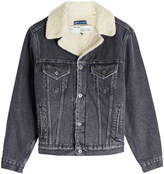 Off-White X Levi's Sherpa Trucker Denim Jacket with Faux Shearling Lining