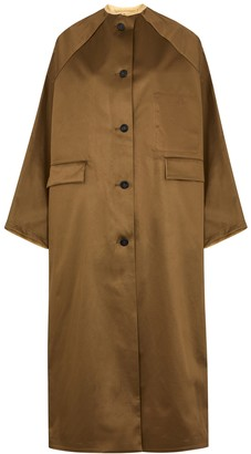 Kassl Editions Olive Reversible Satin Trench Coat