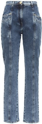 Versace High Waist Straight Leg Denim Jeans