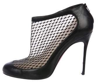 Christian Louboutin Mesh Leather Booties