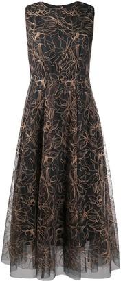 Brunello Cucinelli Floral Shift Midi Dress