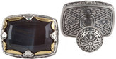 Konstantino Sterling Silver & 18K Gold Cuff Links with Hawk's Eye