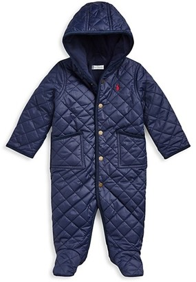 Ralph Lauren Baby Boy's Hooded Quilted Coverall