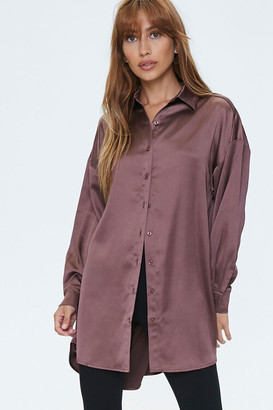 Forever 21 Satin Drop-Sleeve Shirt